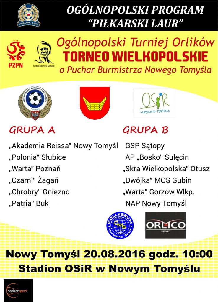 Plakat Torneo 2016 Nowy Tomyśl